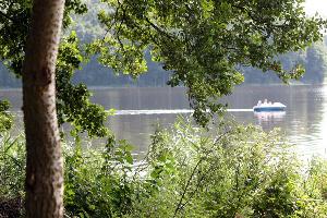 Rowerem po jeziorze w Więcborku